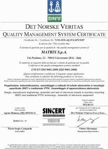 Certificazioni Matrix spa